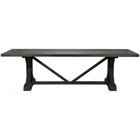 CFC X Reclaimed Lumber Dining Table, Black Wax, 120