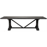 CFC X Reclaimed Lumber Dining Table, Black Wax, 96
