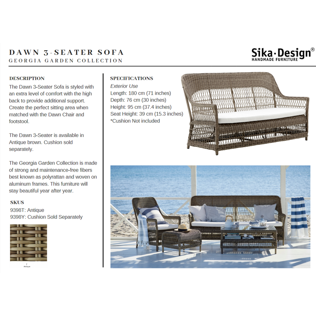 Sika-Design Georgia Garden Dawn-3 Seater-5
