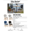Sika-Design Affaire Sofie Rattan Side Bistro Chair, Stackable, Indoor/Covered Outdoor-Dining Chairs-Sika Design-Heaven's Gate Home