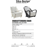 Sika Design Exterior Arne Jacobsen Charlottenborg Chair w/ Cushion, Outdoor-Lounge Chairs-Sika Design-Heaven's Gate Home