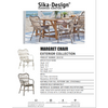 Sika-Design Exterior Margret Dining Chair, Outdoor-Dining Chairs-Sika Design-Heaven's Gate Home, LLC