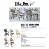 Sika-Design Originals Rossini Dining Arm Chair, Indoor-Dining Chairs-Sika Design-Heaven's Gate Home