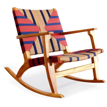 Masaya Rocking Chair-Rocking Chairs-Masaya & Co.-Momotombo Manila-Teak-Heaven's Gate Home