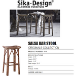 Sika-Design Originals Salsa Bar Stool, Indoor-Bar Stools-Sika Design-Antique-Heaven's Gate Home