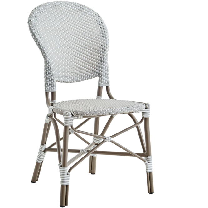 Sika-Design Alu Affaire Isabell Rattan Dining Side Chair, Outdoor