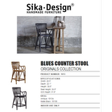 Sika-Design Originals Blues Bar & Counter Stool - Heaven's Gate Home & Garden