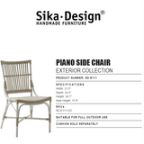 Sika-Design Exterior Piano Side Chair - Heaven's Gate Home & Garden