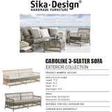 Sika-Design Exterior Caroline 3-Seater Sofa - Heaven's Gate Home & Garden
