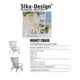 Sika-Design Exterior Monet Lounge Chair and/or Stool, Outdoor-Lounge Chairs-Sika Design-Heaven's Gate Home