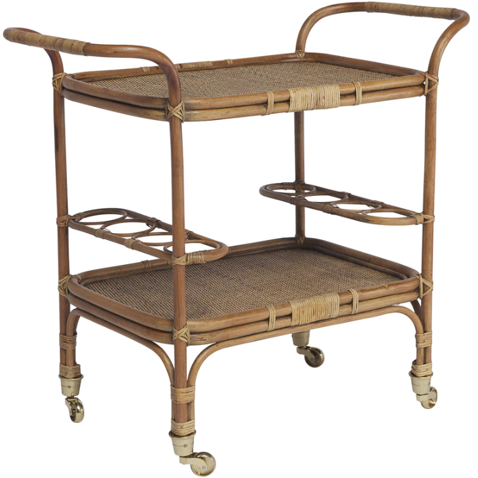 Sika-Design Originals Carlo Rattan Bar Table, Indoor-Bar Carts-Sika Design-Antique-Heaven's Gate Home