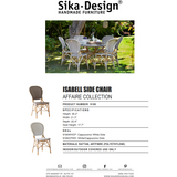 Sika-Design Affaire Isabell Rattan Bistro Side Chair, Stackable, Indoor/Covered Outdoor-Dining Chairs-Sika Design-Heaven's Gate Home