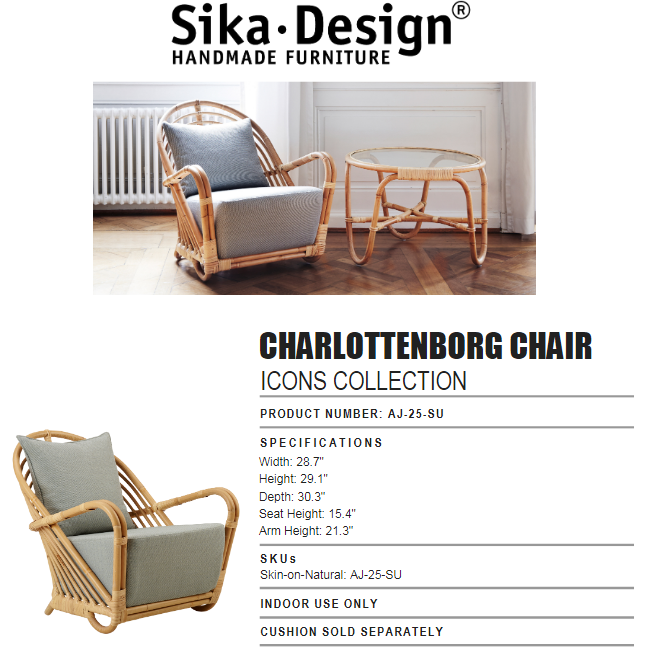 Sika-Design Icons Charlottenborg Chair Frame (Only)-11