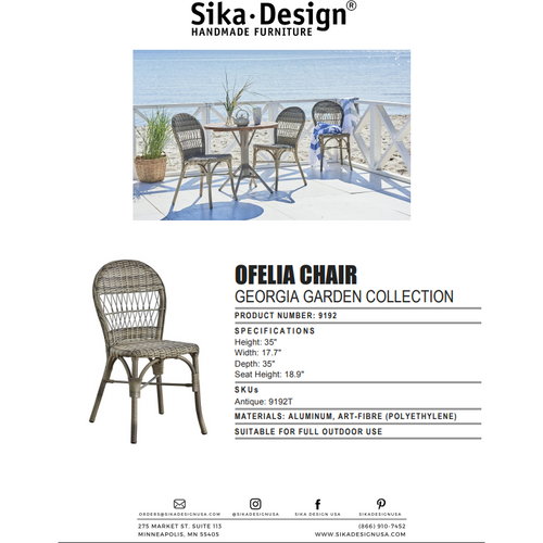 Sika Design Georgia Garden Ofelia Dining Chair, Outdoor-Dining Chairs-Sika Design-Antique-Heaven's Gate Home