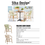 Sika-Design Affaire Sofie Valerie Rattan Stackable Dining Chair, Indoor/Covered Outdoor-Dining Chairs-Sika Design-Heaven's Gate Home