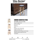 Sika-Design Affaire Simone Rattan Counter Stool, Stackable, Indoor/Covered Outdoor-Counter Stools-Sika Design-Heaven's Gate Home