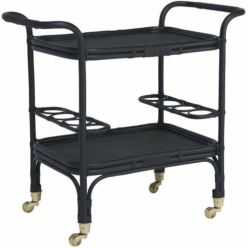 Sika-Design Originals Carlo Rattan Bar Table, Indoor-Bar Carts-Sika Design-Black-Heaven's Gate Home