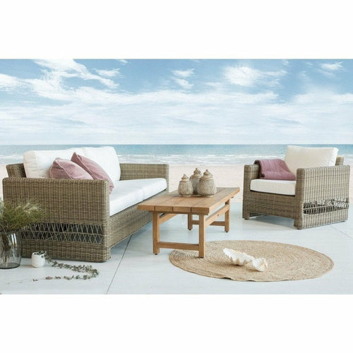 Sika-Design Georgia Garden Carrie 3-Seater w/ Cushion, Outdoor-Sofas-Sika Design-Heaven's Gate Home