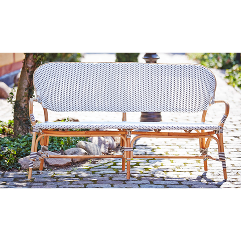 Sika-Design Affaire Isabell Rattan Bench, Indoor/Covered Outdoor