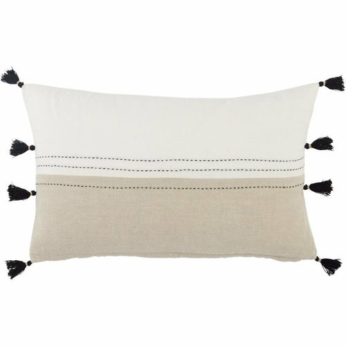"Jaipur Living Yamanik Taiga White Pillow, Set/2-Pillows-Jaipur Living-White-13"" x 21"", Set/2-Down-Heaven's Gate Home, LLC"