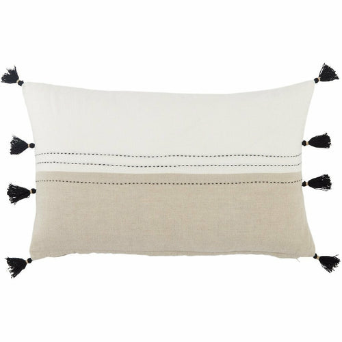 Jaipur Living Yamanik Taiga White Pillow, Set/2