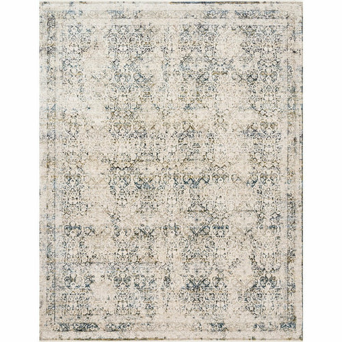 "Loloi Theia THE-01 Traditional Power Loomed Area Rug-Rugs-Loloi-Natural-1'-6"" x 1'-6"" Sample-Heaven's Gate Home, LLC"