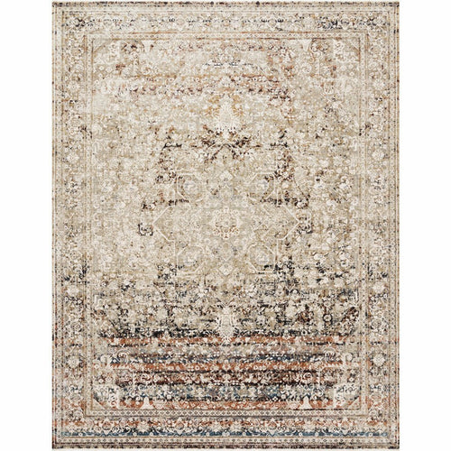 "Loloi Theia THE-05 Traditional Power Loomed Area Rug-Rugs-Loloi-Taupe-1'-6"" x 1'-6"" Sample-Heaven's Gate Home, LLC"