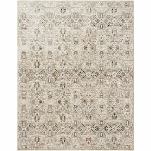 "Loloi Theia THE-06 Traditional Power Loomed Area Rug-Rugs-Loloi-Ivory-1'-6"" x 1'-6"" Sample-Heaven's Gate Home, LLC"