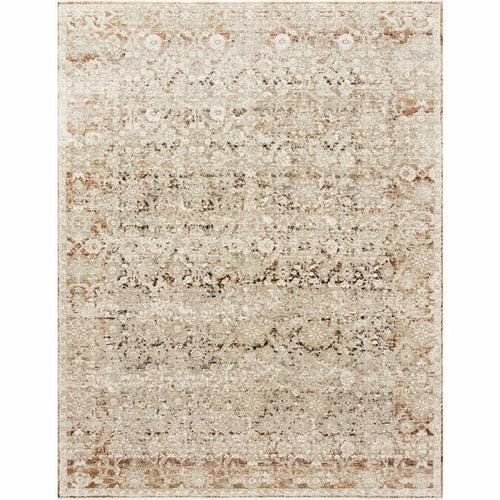 "Loloi Theia THE-07 Traditional Power Loomed Area Rug-Rugs-Loloi-Natural-1'-6"" x 1'-6"" Sample-Heaven's Gate Home, LLC"
