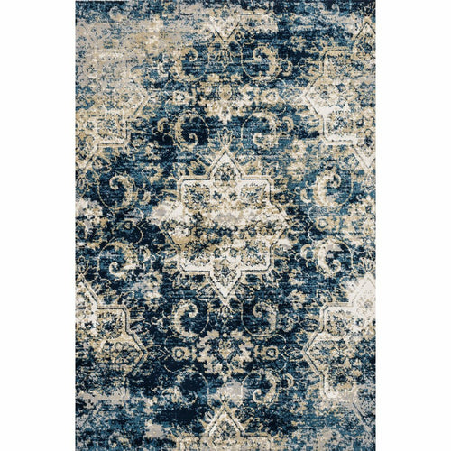 "Loloi Torrance TC-04 Transitional Power Loomed Area Rug-Rugs-Loloi-Navy-1'-6"" x 1'-6"" Sample-Heaven's Gate Home, LLC"