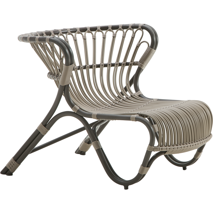 Sika-Design Exterior Fox Lounge Chair, Outdoor-Lounge Chairs-Sika Design-Brown-Heaven's Gate Home
