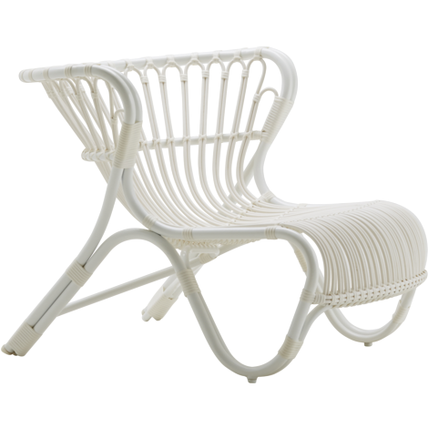 Sika-Design Exterior Fox Lounge Chair, Outdoor-Lounge Chairs-Sika Design-White-Heaven's Gate Home