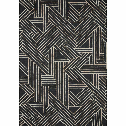 "Loloi Verve VER-01 Contemporary Hand Tufted Area Rug-Rugs-Loloi-Charcoal-18"" x 18"" Sample-Heaven's Gate Home, LLC"