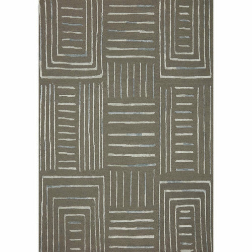 "Loloi Verve VER-02 Contemporary Hand Tufted Area Rug-Rugs-Loloi-Charcoal-18"" x 18"" Sample-Heaven's Gate Home, LLC"