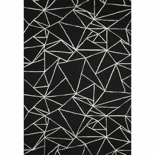 "Loloi Verve VER-03 Contemporary Hand Tufted Area Rug-Rugs-Loloi-Black-18"" x 18"" Sample-Heaven's Gate Home, LLC"