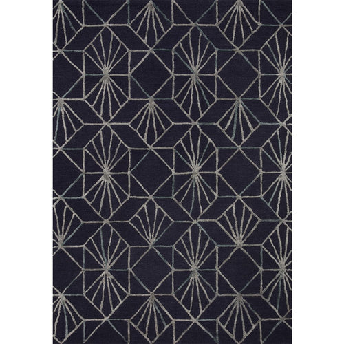 "Loloi Verve VER-04 Contemporary Hand Tufted Area Rug-Rugs-Loloi-Charcoal-18"" x 18"" Sample-Heaven's Gate Home, LLC"