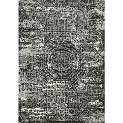 "Loloi Viera VR-11 Contemporary Power Loomed Area Rug-Rugs-Loloi-Black-1'-6"" x 1'-6"" Sample-Heaven's Gate Home, LLC"