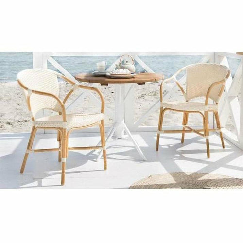Sika-Design Affaire Sofie Valerie Rattan Stackable Dining Chair, Indoor/Covered Outdoor-Dining Chairs-Sika Design-Ivory-Heaven's Gate Home, LLC