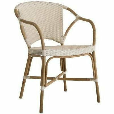 Sika-Design Affaire Sofie Valerie Rattan Stackable Dining Chair, Indoor/Covered Outdoor-Dining Chairs-Sika Design-Ivory-Heaven's Gate Home