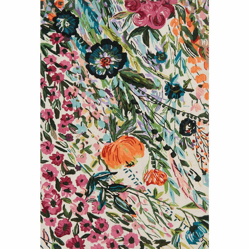 "Loloi Wild Bloom WV-01 Contemporary Hooked Area Rug-Rugs-Loloi-Multi-1'-6"" x 1'-6"" Sample-Heaven's Gate Home, LLC"