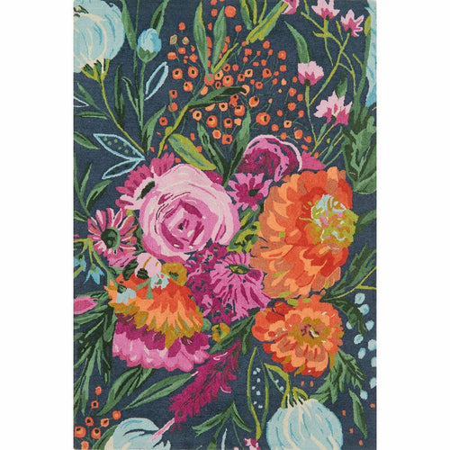 "Loloi Wild Bloom WV-04 Contemporary Hooked Area Rug-Rugs-Loloi-Multi-1'-6"" x 1'-6"" Sample-Heaven's Gate Home, LLC"