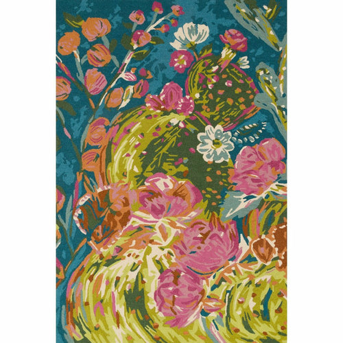 "Loloi Wild Bloom WV-05 Contemporary Hooked Area Rug-Rugs-Loloi-Multi-1'-6"" x 1'-6"" Sample-Heaven's Gate Home, LLC"