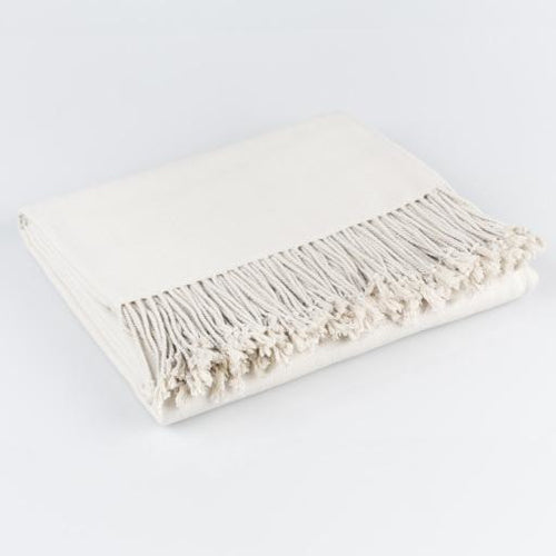 Surya Chantel Woven Silk Throw with Tassels-Throws-Surya-Heaven's Gate Home
