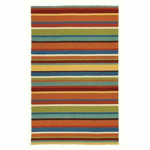 Company C Cabana Hand-Hooked, Indoor/Outdoor Stripe Rug-Rugs-Company C-4' x 6'-Heaven's Gate Home