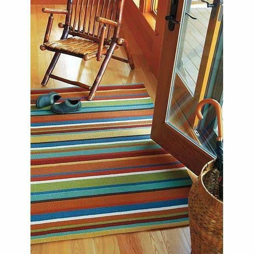 Company C Cabana Hand-Hooked, Indoor/Outdoor Stripe Rug-Rugs-Company C-Heaven's Gate Home
