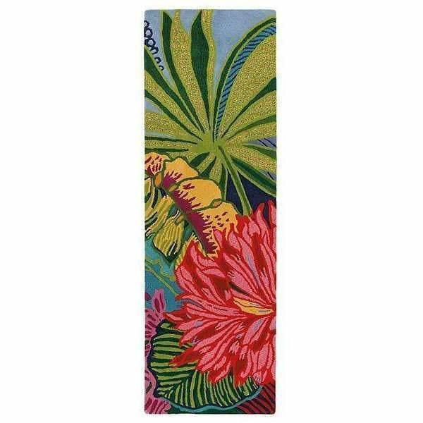 Company C Captiva Over-Sized Tropical Floral Island 100% Wool Rug-Rugs-Company C-3' x 8' Runner-Heaven's Gate Home