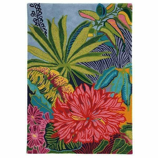 Company C Captiva Over-Sized Tropical Floral Island 100% Wool Rug-Rugs-Company C-5' x 7'-Heaven's Gate Home