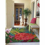 Company C Captiva Over-Sized Tropical Floral Island 100% Wool Rug-Rugs-Company C-Heaven's Gate Home