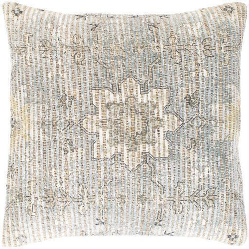 "Surya Coventry CVN-008 Jute Global Pillow-Pillows-Surya-Beige-26"" x 26"" Pillow-Heaven's Gate Home"