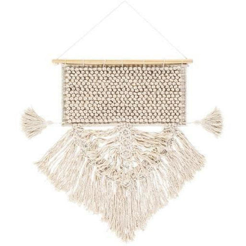 "Surya Dali DAL-1000 Hand-Woven Wall Hanging, Cream-Wall Hangings-Surya-28"" x 19""-Beige-Heaven's Gate Home"